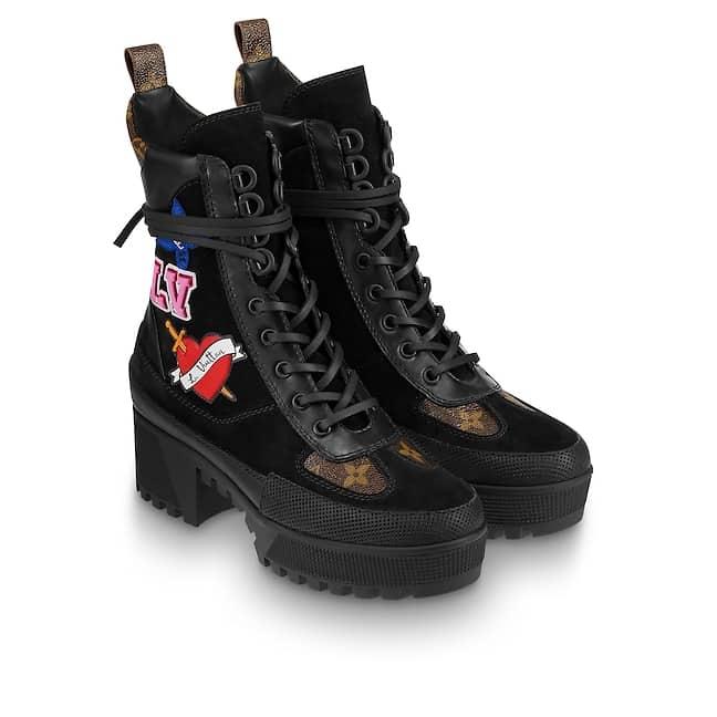 lv black heart sneaker