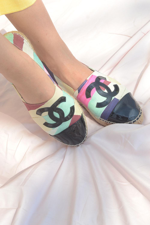 Chanel Canvas Espadrilles - Multicolor