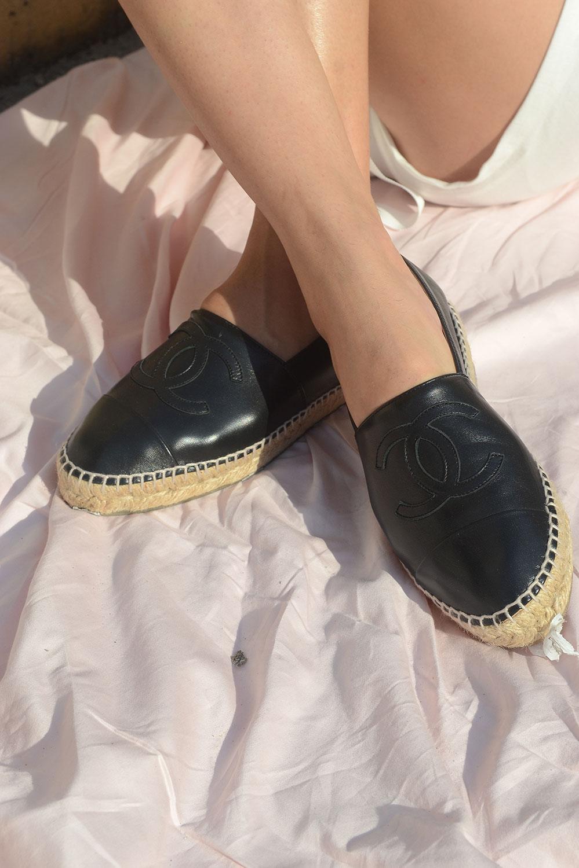 Chanel Espadrilles - Black Leather